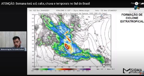 PREVISÃO PARA A SEMANA | Ciclone Extratropical deve se formar entre o Uruguai e o RS