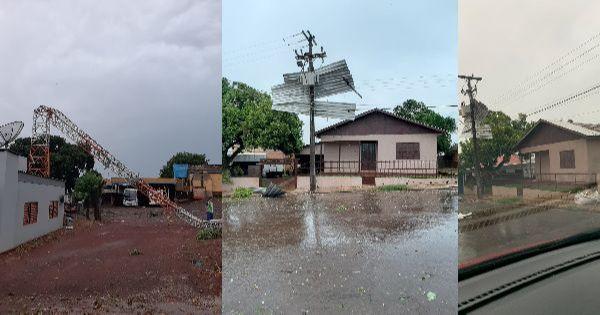Tempestade causa estragos em Coronel Bicaco, RS