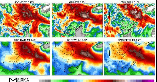 Chuva em 7 dias no Sul do Brasil e Uruguai - Veja as projeções