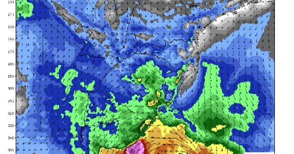 Frente Fria e Ciclone Extratropical trazem intensificação dos ventos para o RS e UY