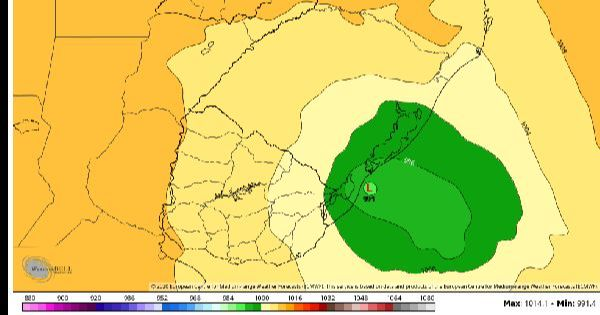 ATENÇÃO: Ciclone Extratropical se forma sobre a costa gaúcha nas próximas horas