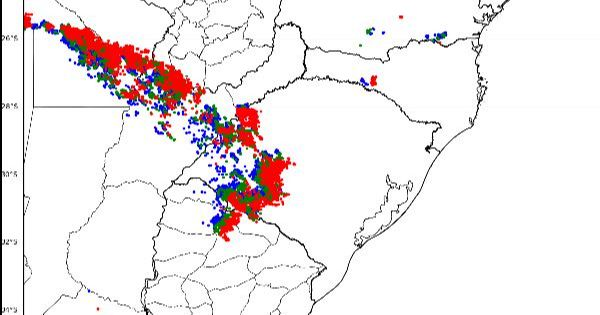 INSTABILIDADE | Chuva e temporais já ingressam pela Fronteira do RS com o Uruguai e Argentina